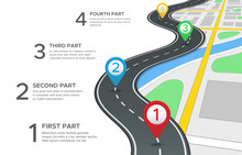 Highway Road Infographic. Stre...