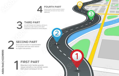 Highway road infographic Wallpaper Mural