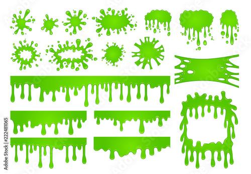 Fotografie, Obraz  Cartoon liquid slime