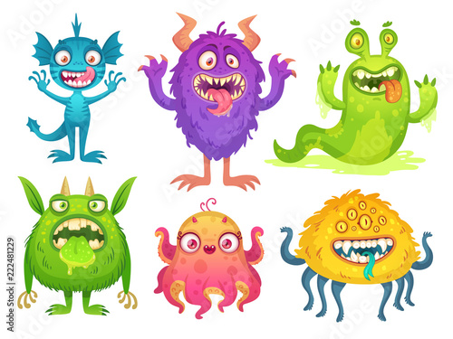 Cartoon monster mascot фототапет