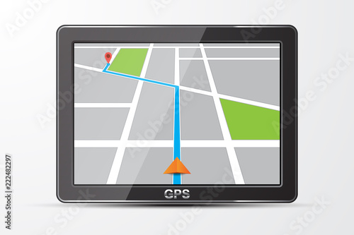 Vector gps navigator icon, isolated on white Fototapeta