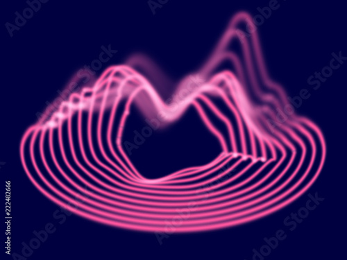 Big data abstract background  Flowing 3D sound waves  Vinyl record