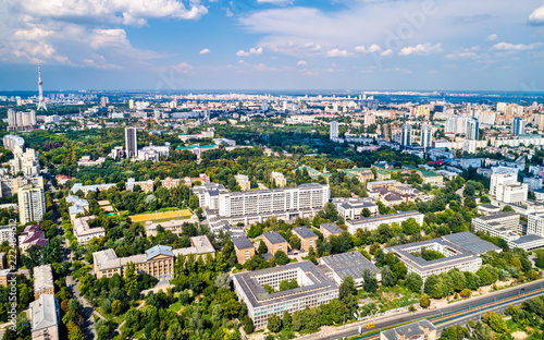 Poster Centraal Europa Aerial view of the National Technical University of Ukraine, also known as Igor Sikorsky Kyiv Polytechnic Institute