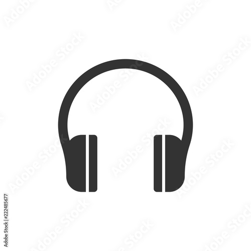Fotografia  Headphone headset icon in flat style