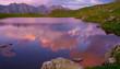 Lake summer. Sunset landscape