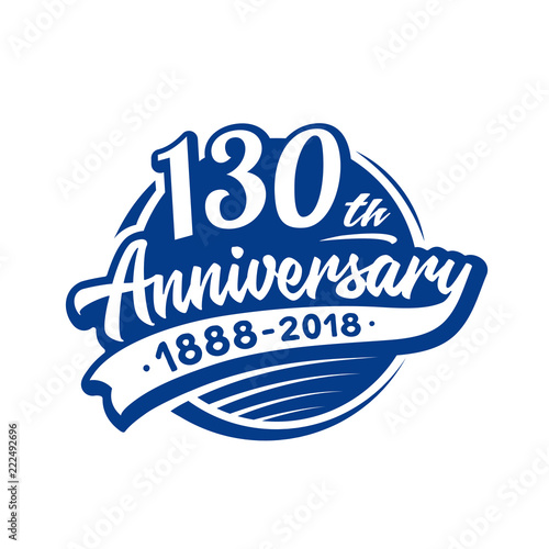 Fotografia  130 years anniversary design template