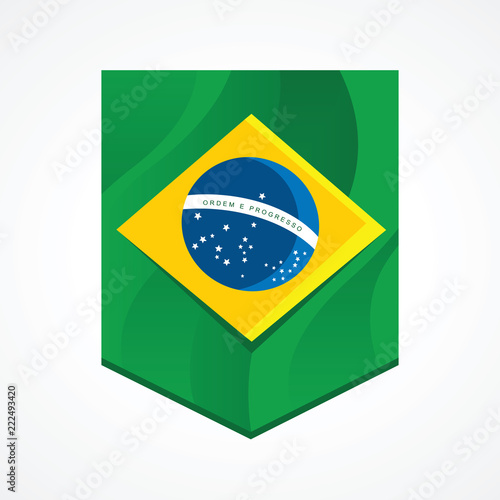 Foto  Brazil flag inside a flamula