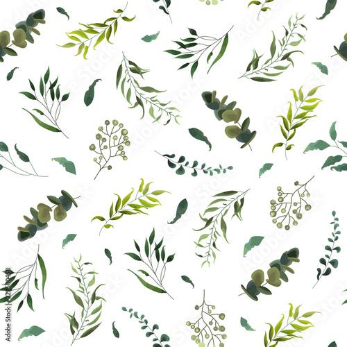 Tapety Kwiaty bezszwowy-wzor-z-zielonymi-tropikalnymi-liscmi
