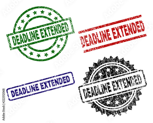 DEADLINE EXTENDED seal prints with distress texture Fototapet