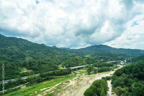 Fotobehang Wit landscape of mountain