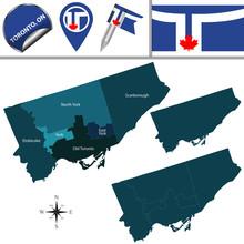 Map Of Toronto With Neighborho...