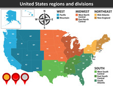 United States Regions And Divi...