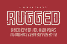 Rugged Vector Display Typeface...