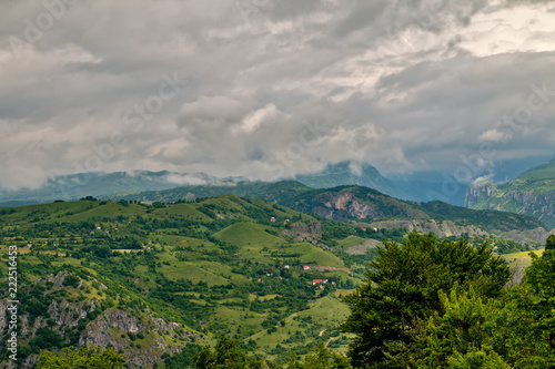 Mountain landscape in Montenegro