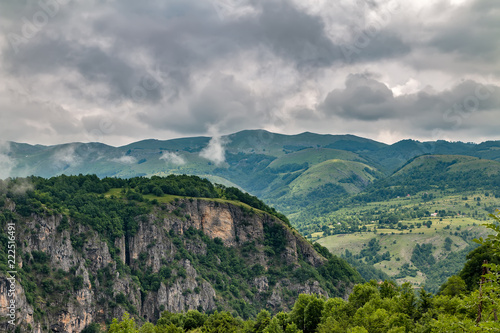 Spoed Foto op Canvas Bleke violet Mountain landscape in Montenegro