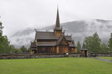 Fototapeta na wymiar Borgund wooden church