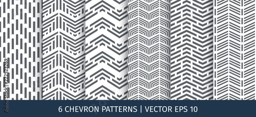 Photo Set of chevron patterns. Vector