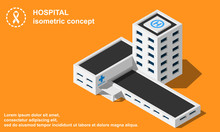 Hospital With Helipad Isometri...