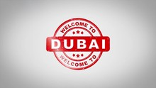 Welcome To DUBAI Signed Stampi...