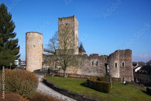 Foto op Plexiglas Kasteel Useldange castle towers in Luxembourg
