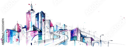 Canvas Prints Paintings architecture