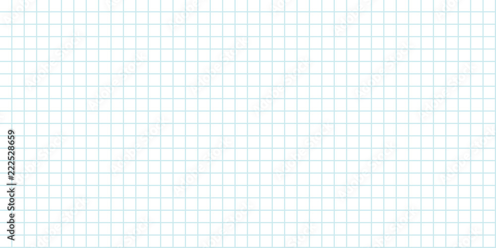 Fototapety, obrazy: seamless grid background lined sheet of paper