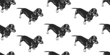 Seamless Pattern With Cute Pup...