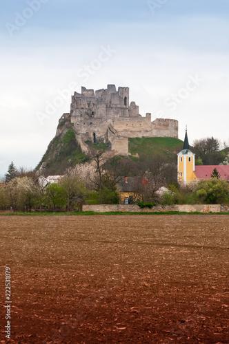 Tuinposter Kasteel Castle Beckov in Slovakia