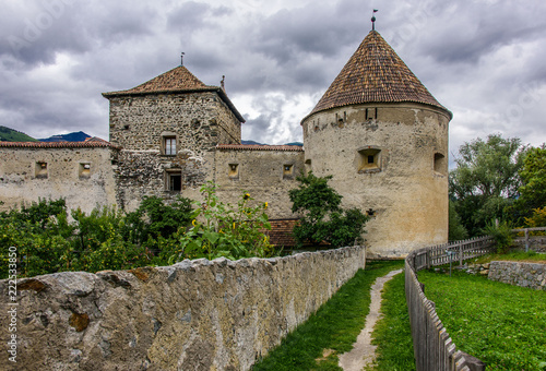 Gate and ramparts in Glurns Canvas Print