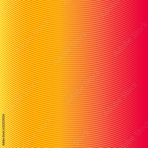 Colorful linear background. Vector illustration Canvas Print
