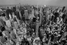 New York City Skyline Black An...