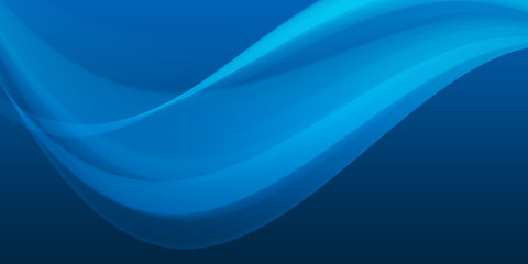 Blue wave background on dark gradient, abstract wallpaper