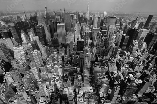 Spoed Foto op Canvas New York New York City skyline Black and White photo