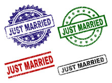 JUST MARRIED Seal Prints With ...