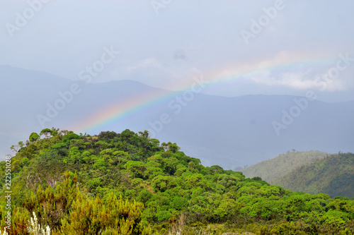 landscape with mountains and a rainbow, Mount Kipipiri, Kenya