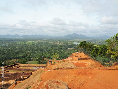 Foto op Canvas Khaki Sigiriya Rock in Sri Lanka