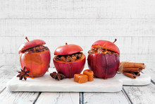 Baked Apples With Caramel, Bro...