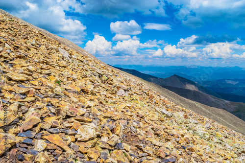 Poster Beige Beautiful Day on Mount Quandry in Colorado Wilderness