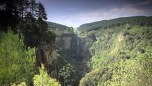 Wide Shot Of Beautiful,high ,waterfall