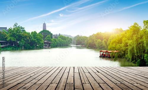 Tuinposter Historisch geb. Slender West Lake, Yangzhou, China