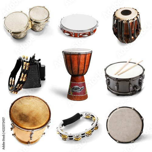 Fotografiet Different kinds of percussion instruments