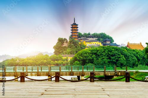 Tuinposter Historisch geb. Zhenjiang Jinshan Park