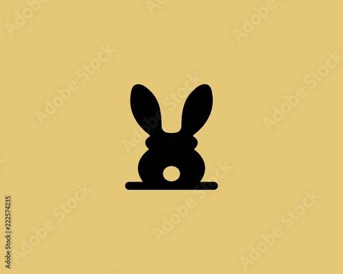 Photo Rabbit Logo template vector icon illustration design