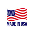 Made in USA icon vector American flag