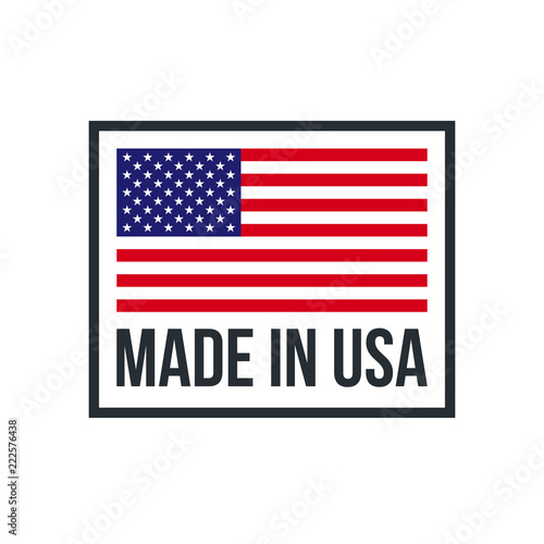 Photographie  Made in USA premium quality American flag icon