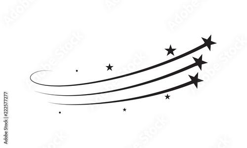 Obraz Star trail vector comet trace of black lines - fototapety do salonu