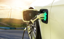 Electric Car Or EV Car Chargin...