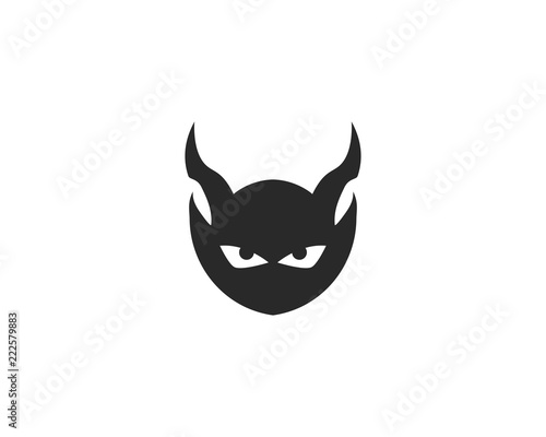 Devil logo vector Poster Mural XXL