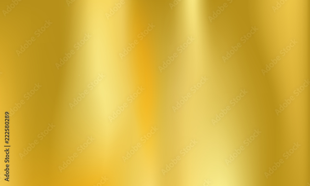 Fototapety, obrazy: Gold foil background golden metal holographic
