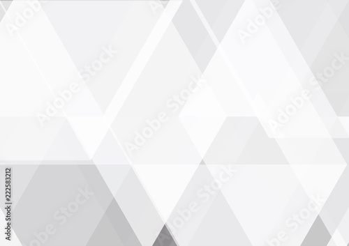 Fototapety, obrazy: Vector gray and white color geometric abstract background